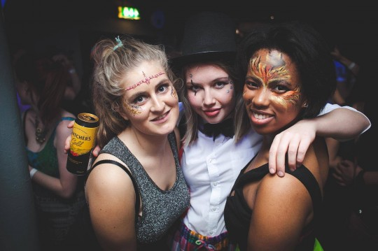 Face paints, glitter and gems provided an easy yet attention-grabbing solution to the fancy dress theme.