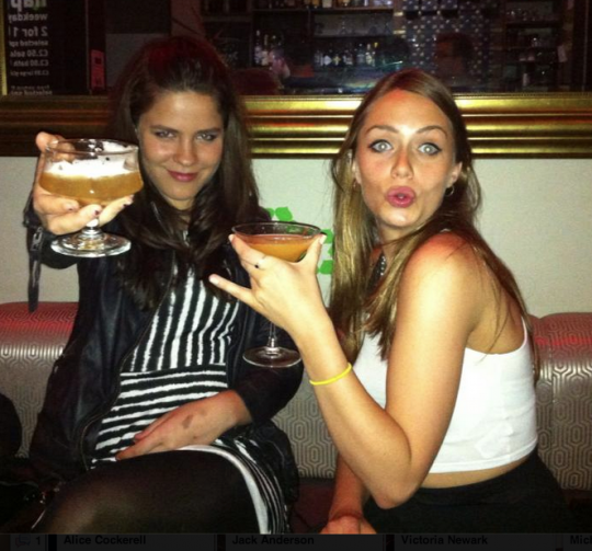 Become a female Gatsby: Isobel (left) reckons paying for drinks gives girls power