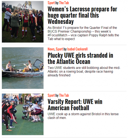 Our sports coverage combines match reports with big game previews and news updates