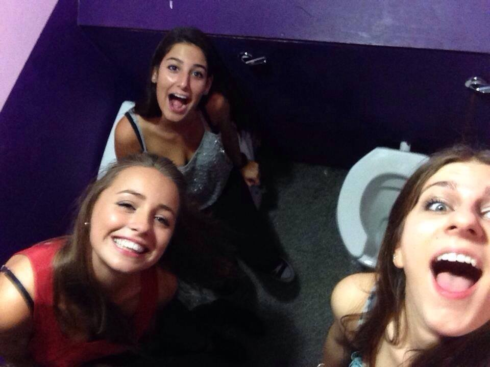 The bunker toilets are a great place to chill and hang out