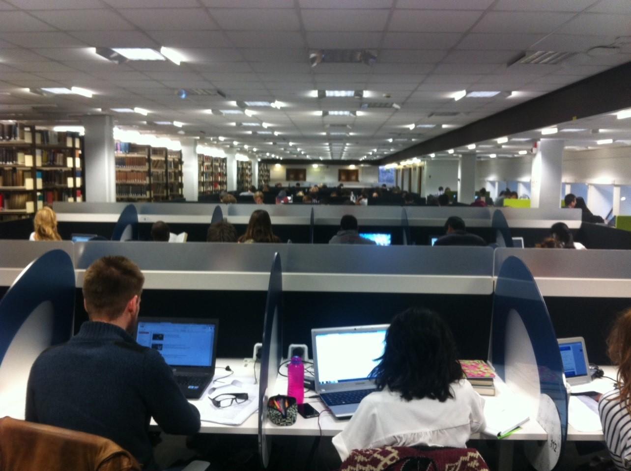 Friday. 10am. November. No spare desks.