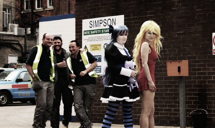 Panty and Stocking with Garterbelt and construction workers