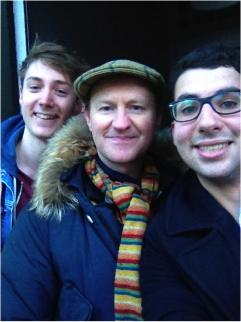 Your writer (left) with Mark Gatiss