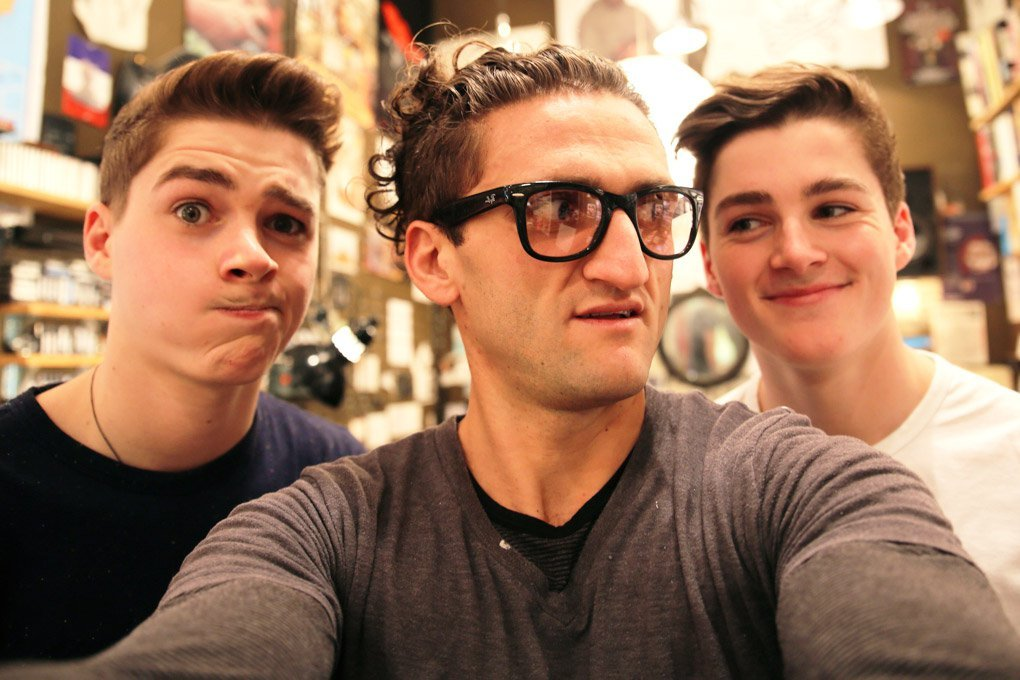 Casey and Jack have worked together before. Photo: Casey Neistat / Tumblr