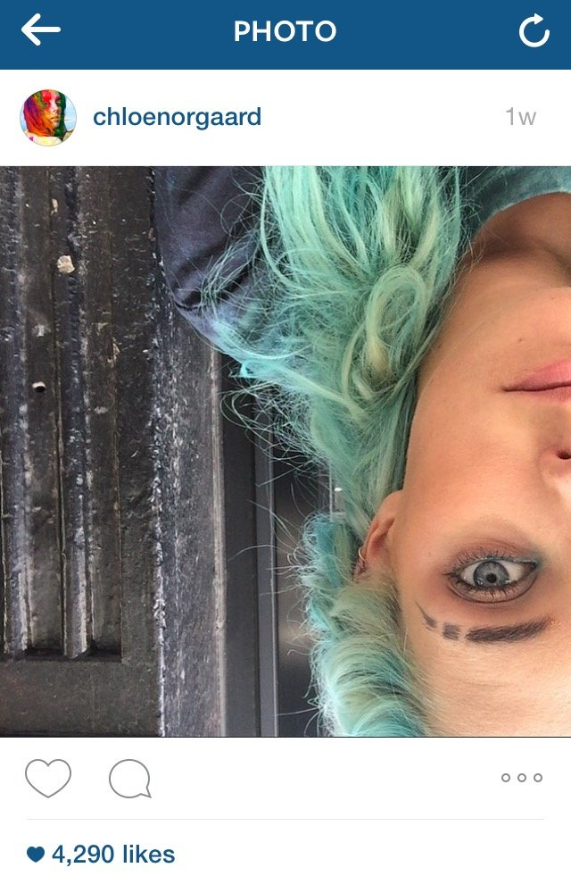 Chloe Norgaard's famous brows