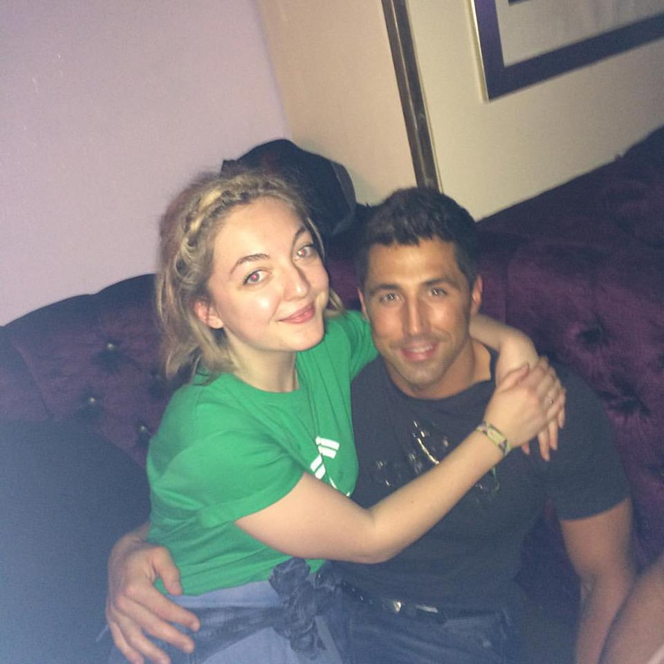 Second year student Frankie with rugby legend Gavin Henson.