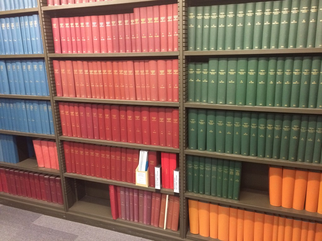 The Chemistry library, where colour blocking never goes out of style
