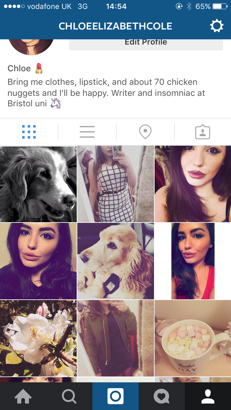 As you can see, my Instagram feed is pretty similar to any 21 year old girl