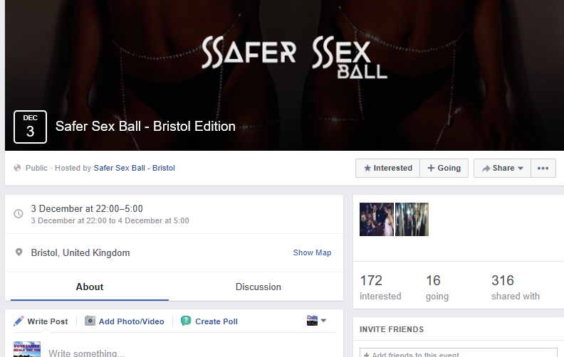 The Bristol ball event page