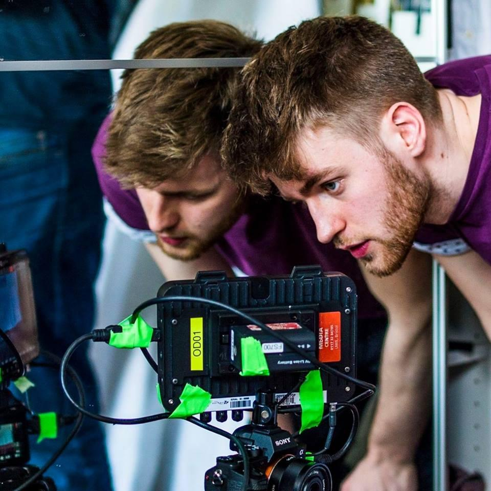 Film maker Owain Astles in action on his last documentary