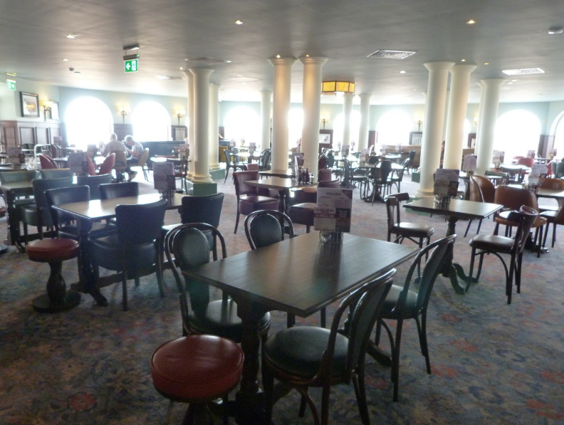 Some of the 551 tables at the pub