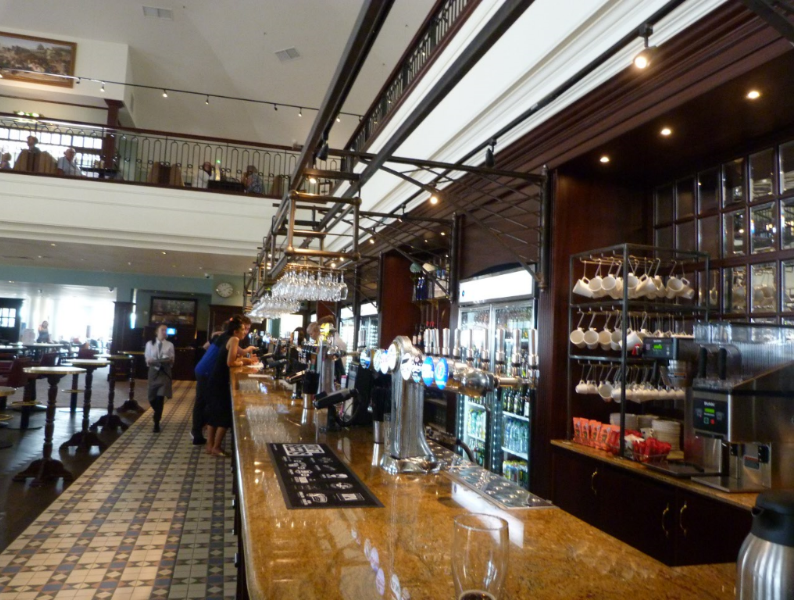 The ground floor bar