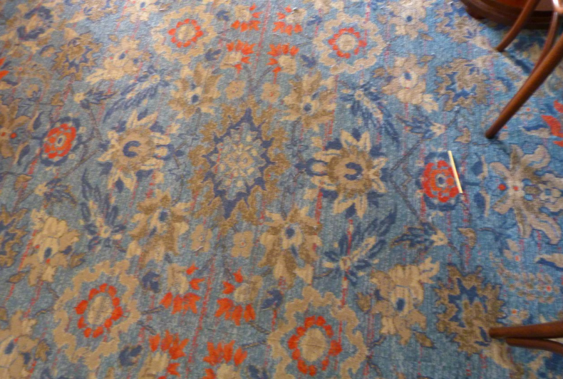 The ground floor carpet