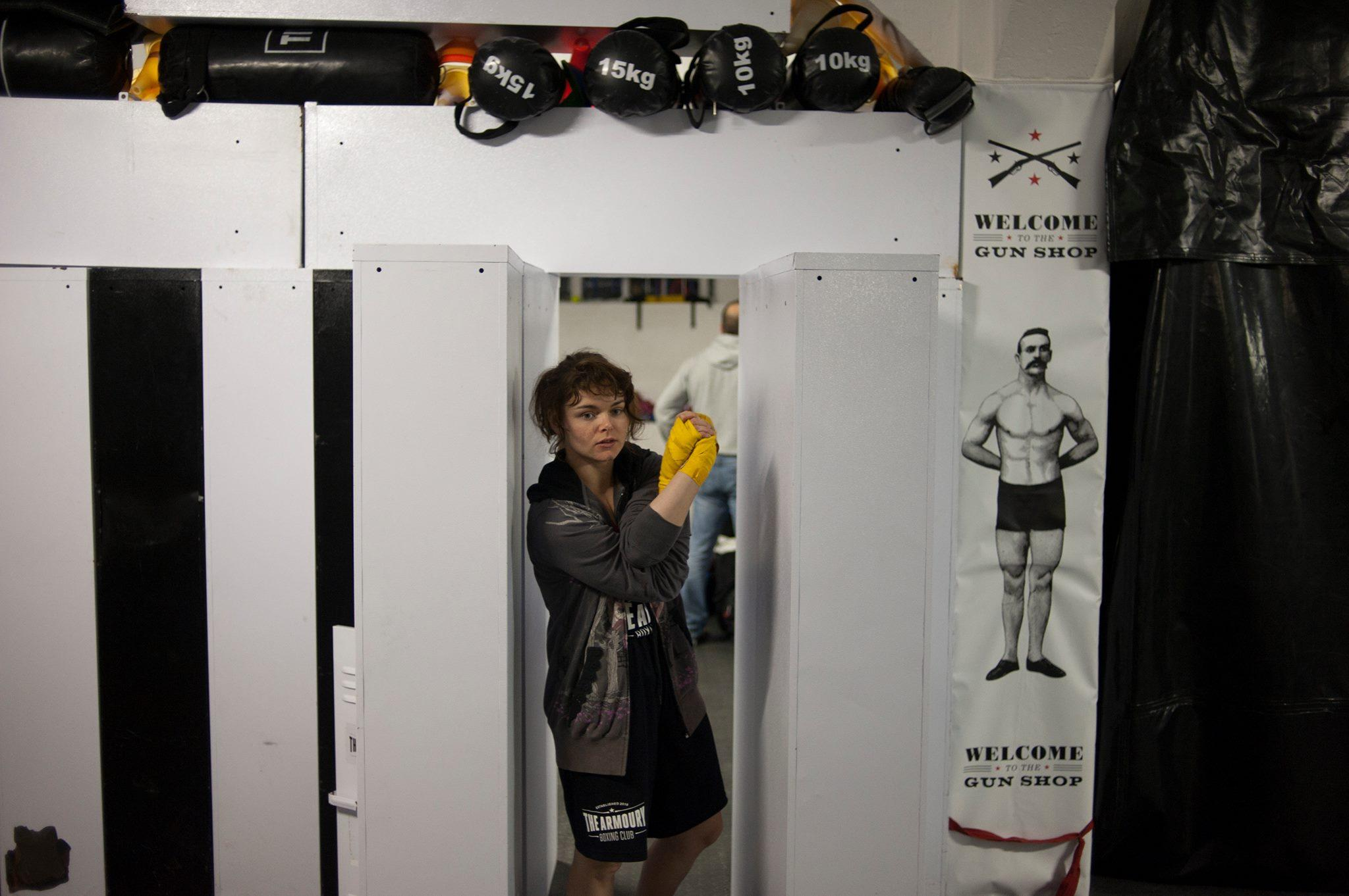 Co-producer Kelsey Stewart is an amateur boxer herself