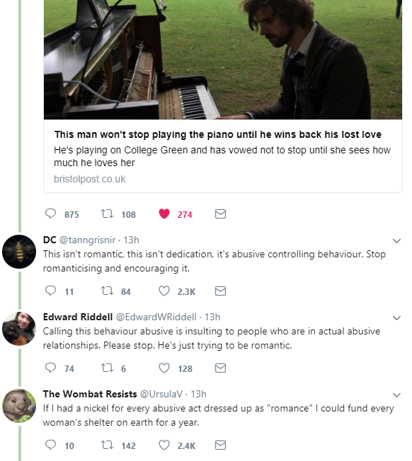 Some of the online reactions to the story