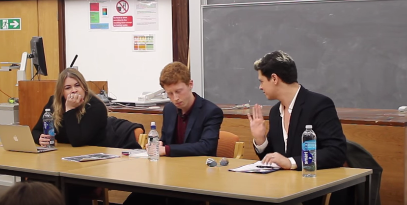 Milo Yiannopoulos debated at the University of Bristol in November 2015