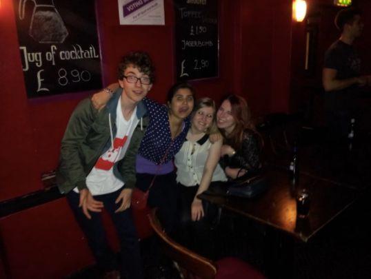 Image may contain: Pub, Bar Counter, Night Life, Person, People, Human