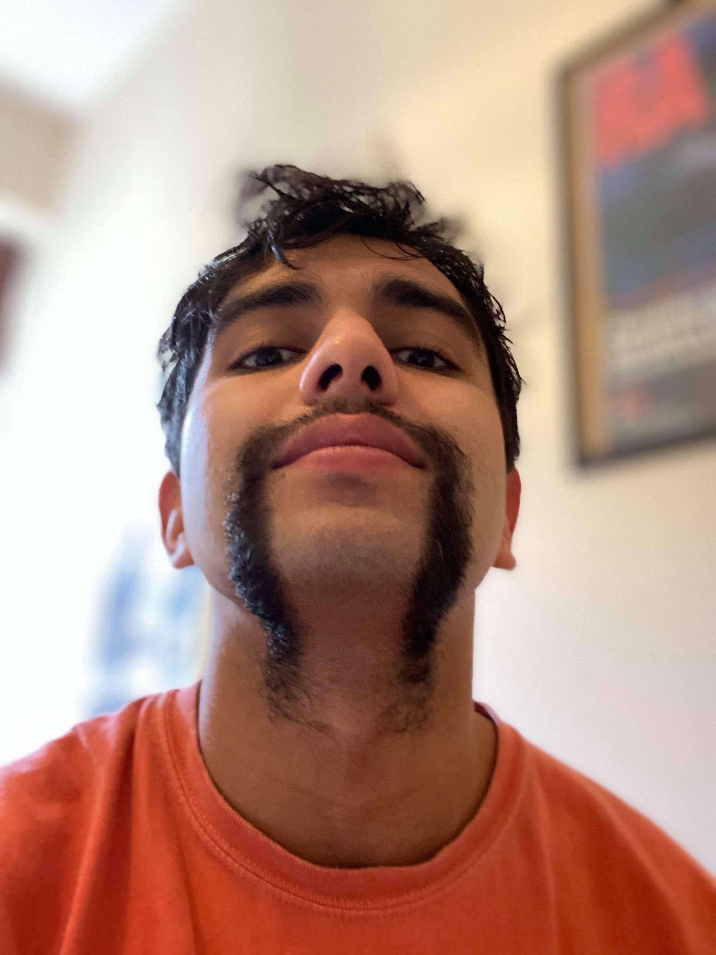 Image may contain: Beard, Face, Person, Human