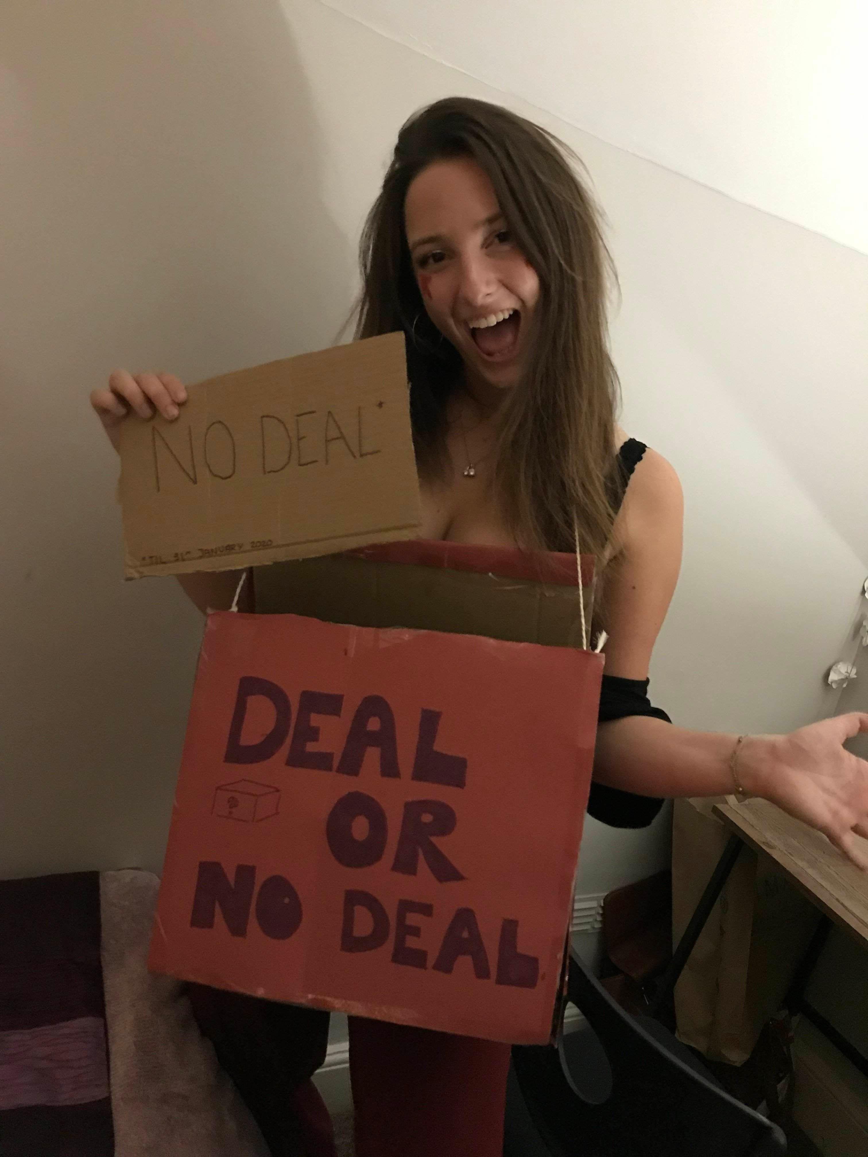 Image may contain: Carton, Cardboard, Box, Plywood, Person, Human, Wood