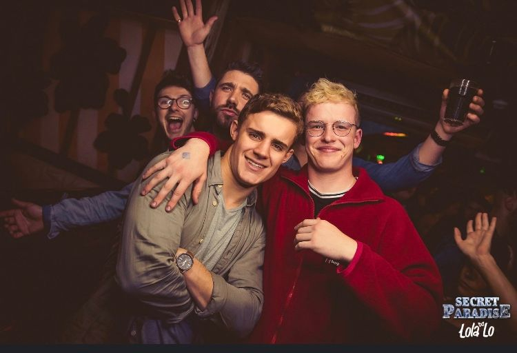 Image may contain: Night Life, Head, Photo, Photography, Portrait, Apparel, Clothing, Night Club, Face, Club, Party, Human, Person