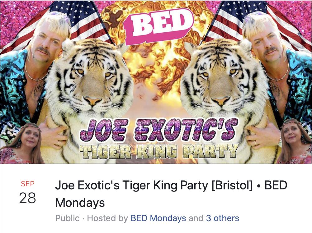 BED Mondays Tiger King Carole Baskin