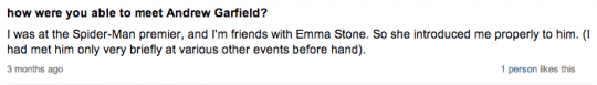Yeah, Emma Stone loves hanging out with rich kids in their teens..