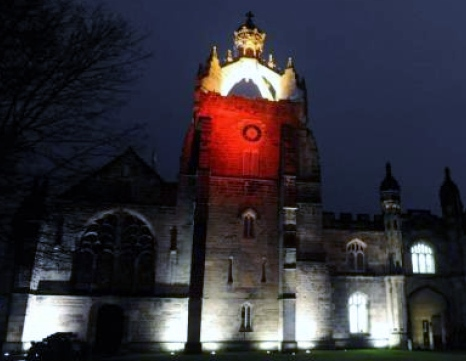 The Chapel turned red last December to mark World Aids Day
