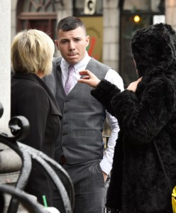 *****COURT - NO BYLINE PLEASE***** Aberdeen Sheriff Court -  soldier Scott Melvin (pictured) who bit off part of the ear of victim Peter Reid. Picture taken -    Colin Rennie - August 19, 2015.