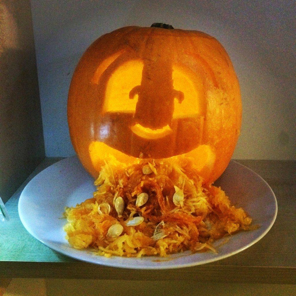 Pumpkin on a whitey