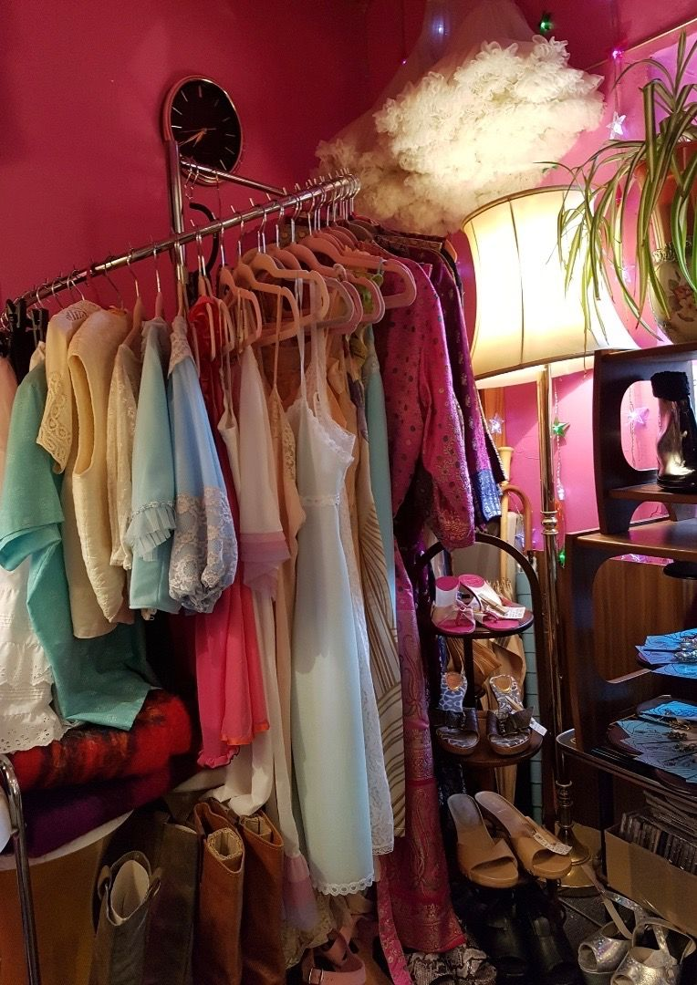 Image may contain: Dressing Room, Boutique, Shop, Closet, Room, Indoors, Furniture