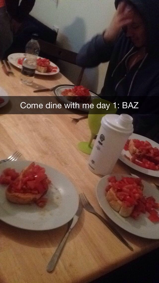 Baz's 'Tomatoes on Toast'