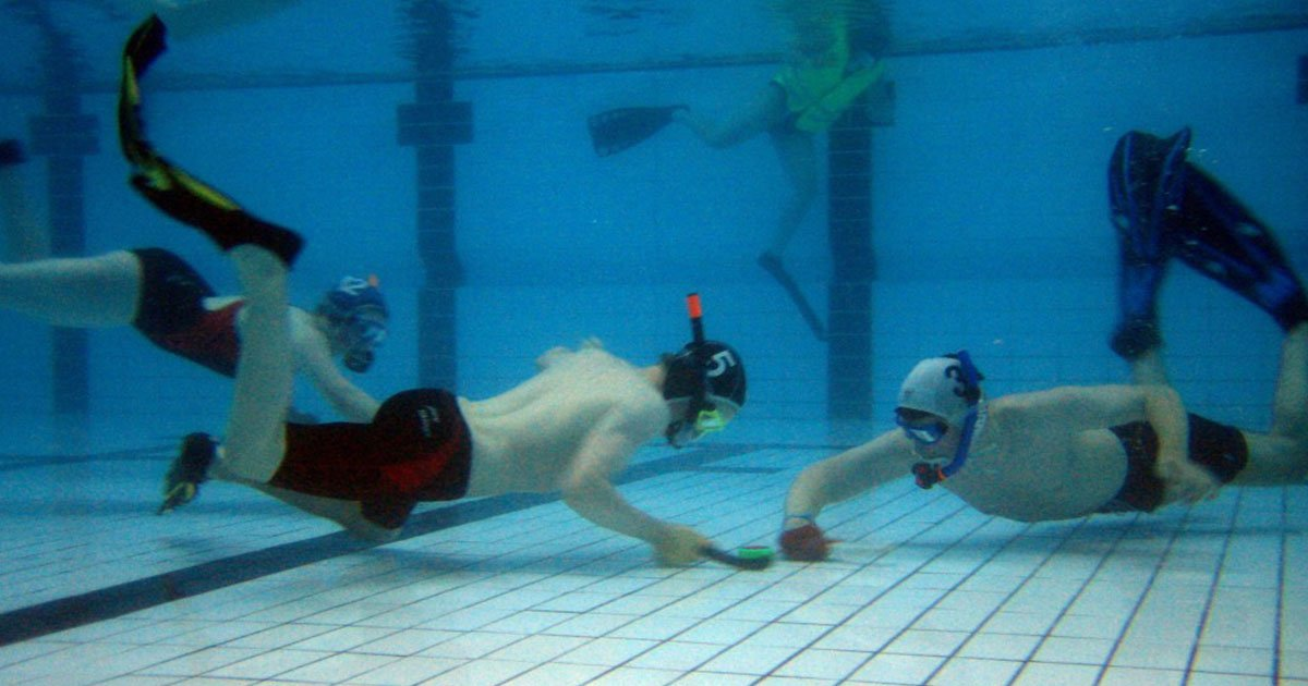 I've played underwater hockey for 10 years and it's ...