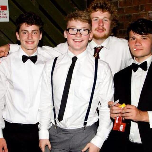 Harry (centre) in happier times