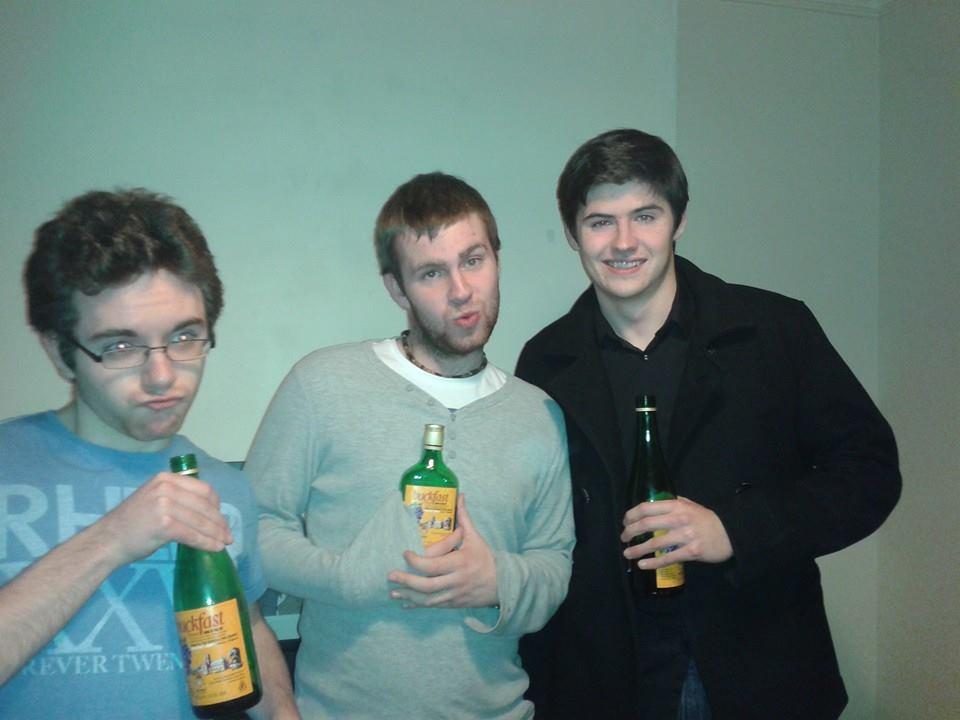 Standard Belfast pre-drink. Buckfast - the drink of monks