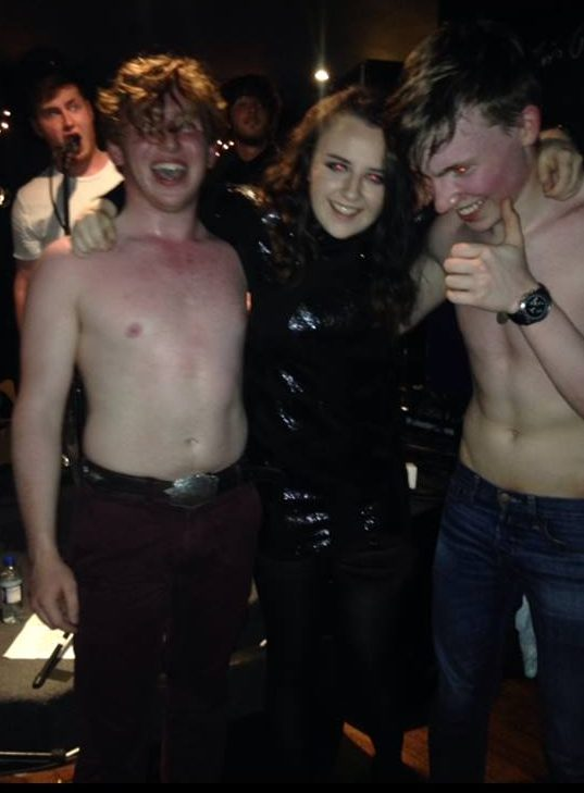 At a Janty gig; taps aff