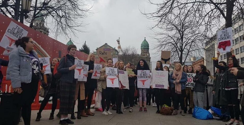 d3e629b49aa3 The 'asking for it' mentality has to stop: Belfast students respond to the  thong rape case. '