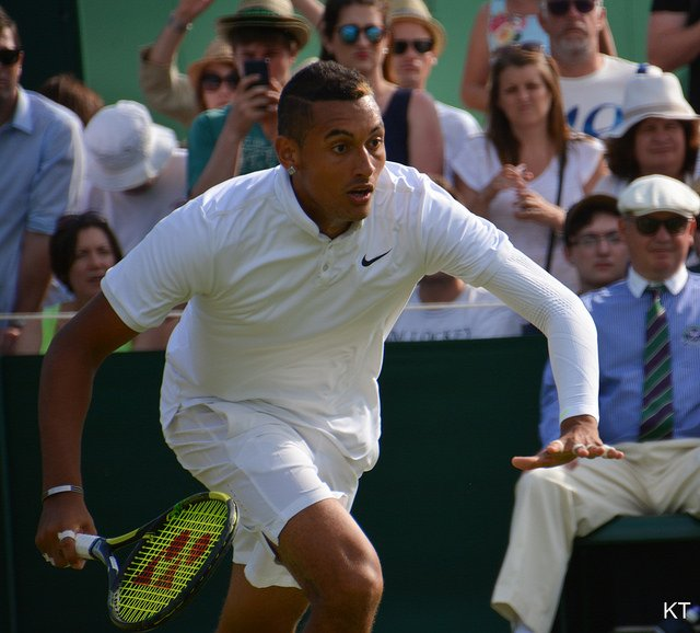 Wimbledon's bad boy: Kyrgios has ruffled the feathers of tennis traditionalists