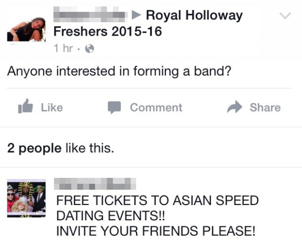 Don't worry, if all goes wrong and no one wants to be in your band, I'm sure Asian speed dating will be banging