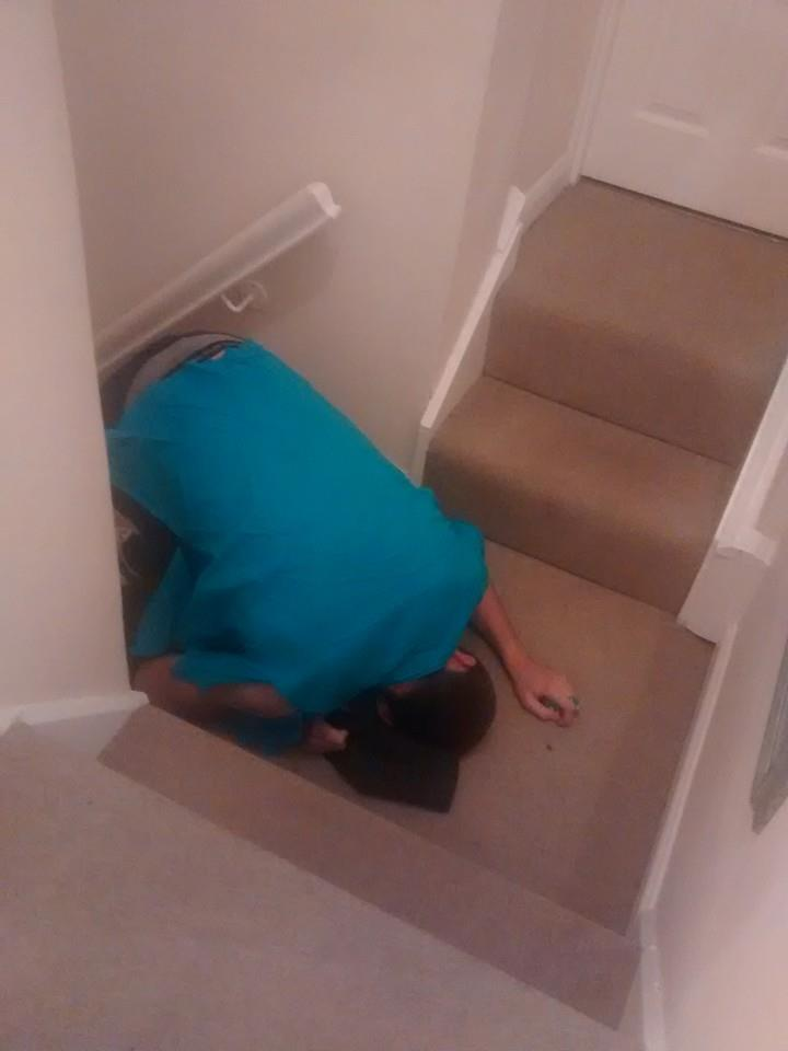 Crying on the stairs isn't the way forward