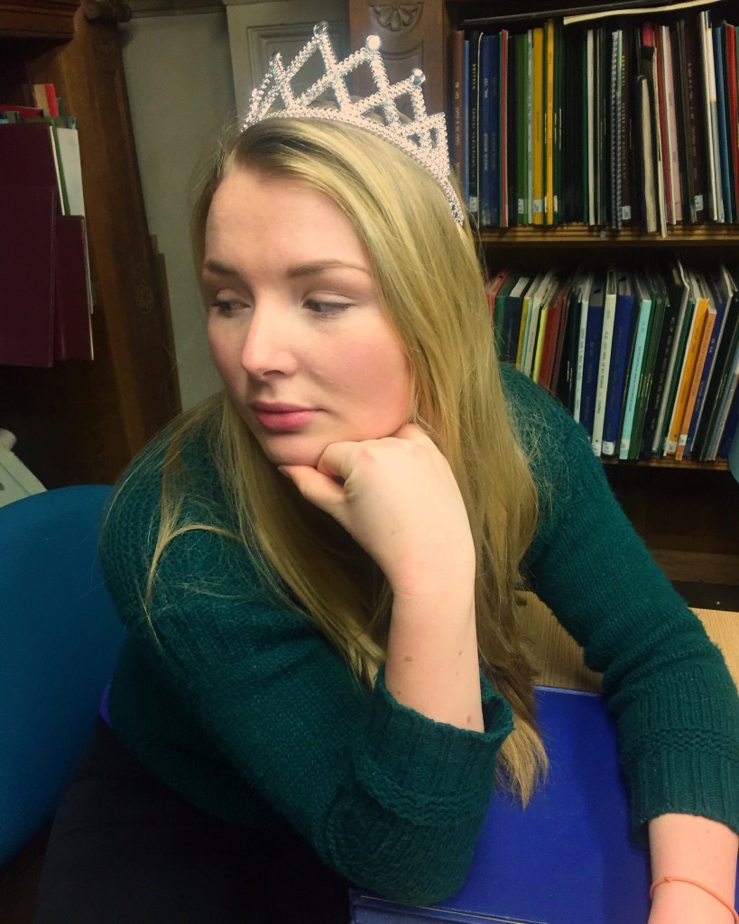 You can't even imagine what it's like to wear a tiara in the library