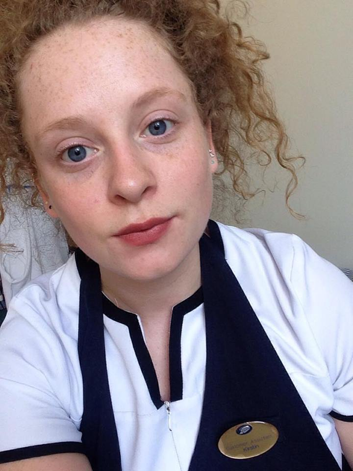 bare face and a 'subtle' lipstick-how to create the chapped lips look.