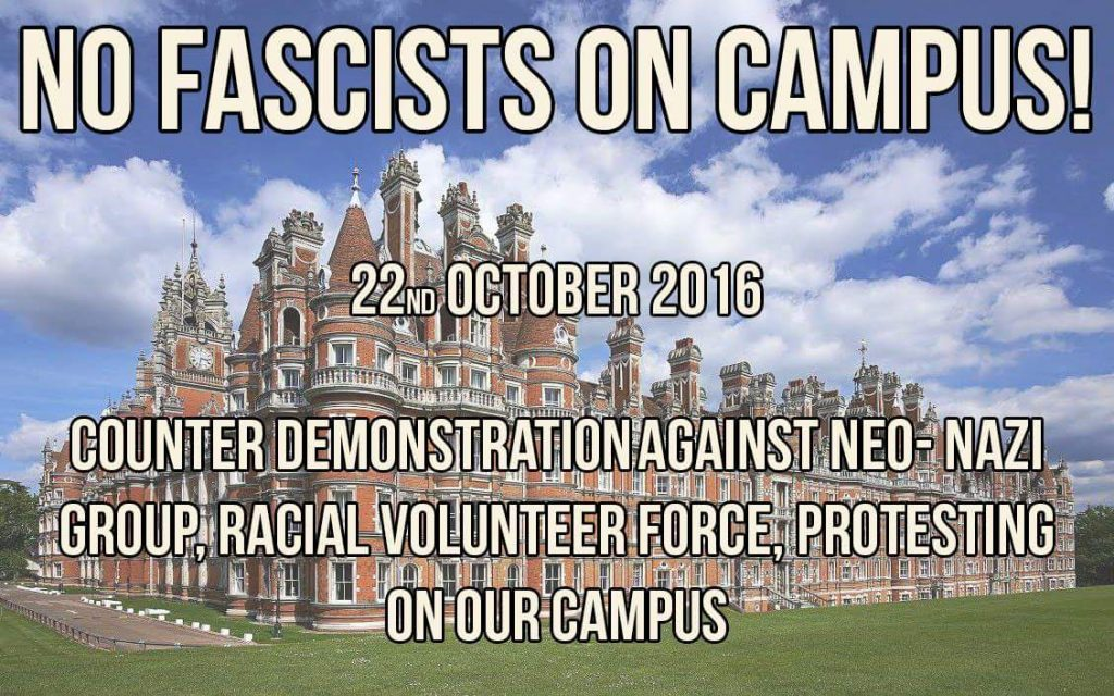 The facebook page event for the protest against the neo-Nazi demonstration