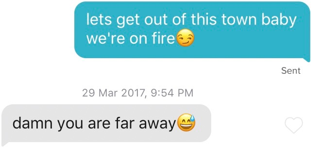 Fire pick up lines