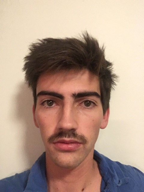 Image may contain: Man, Photography, Portrait, Photo, Mustache, Human, Person, Face