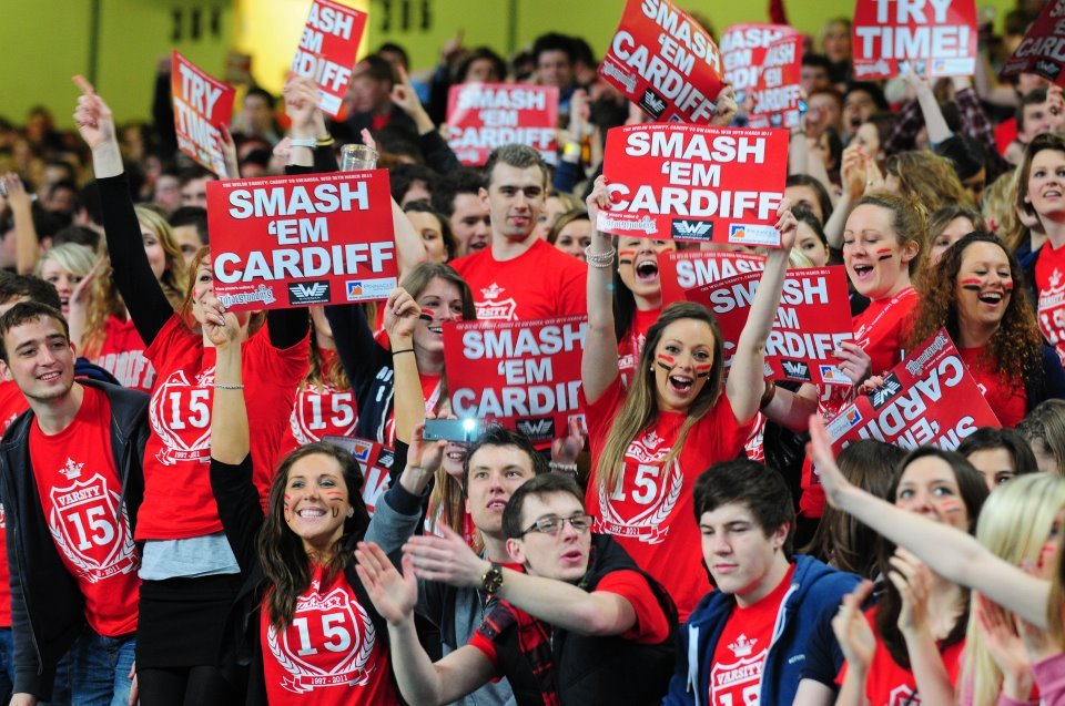Varsity 2016 to be held in Swansea