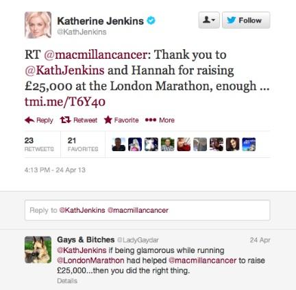 katherine jenkins tweet 1
