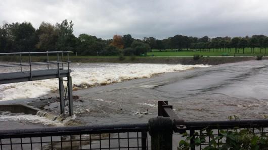 Deluge under the Blackweir Bridge