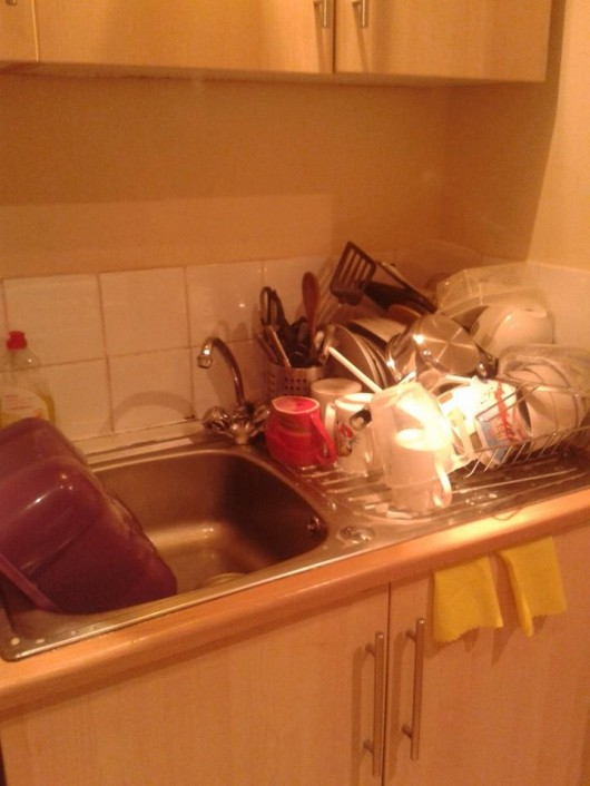 Washing up all done in preparation for my mum