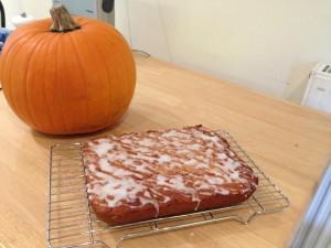 pumpkin & ginger traybake