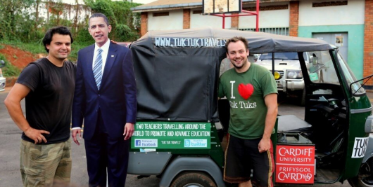 The dynamic duo, seen here with Barack Obama